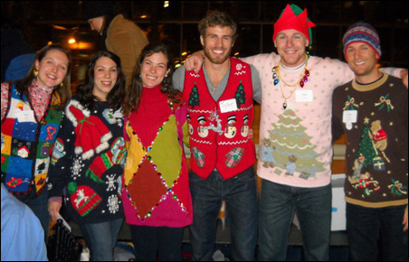 Ugly sweater contest finalists