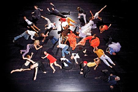 The dancers of Choreographers' Evening.