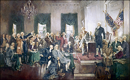 """""""Signing of the Constitution"""" by Howard Chandler Christy"""