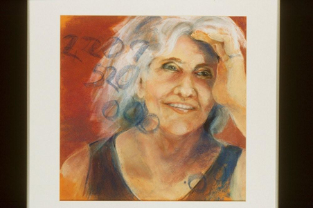 "Jody Stadler's self-portrait at age 70: ""70th Birthday: 2,207,520,000 Seconds."""