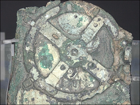 Some of the 82 remaining fragments of the Antikythera Mechanism