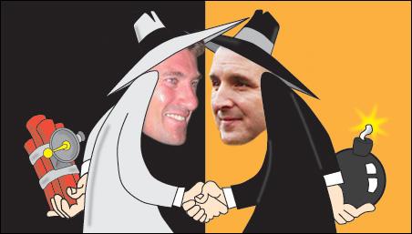 Mayor R.T. Rybak and Gov. Tim Pawlenty