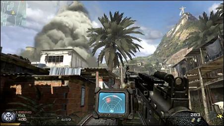 A screenshot of actual gameplay in the video game Modern Warfare 2.