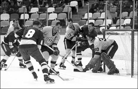 The Minnesota North Stars versus the L.A. Kings, Nov. 4, 1967.