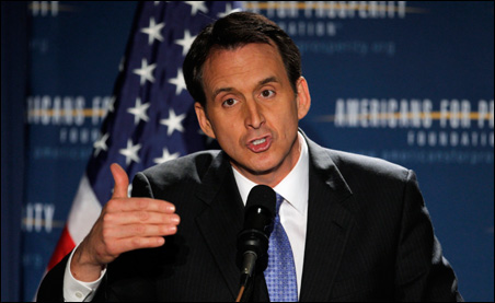 Tim Pawlenty speaking at the Americans for Prosperity Foundation's summit in Manchester on Friday.