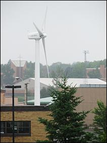 Wind turbine in North St. Paul