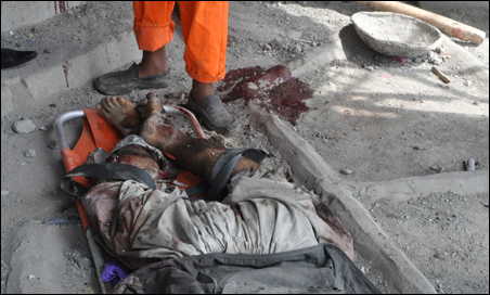 An insurgent killed during an attack on the U.S. Embassy.
