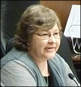 Karen Diver, chair of Fond du Lac Band of Lake Superior Chippewa, testifying against the racino.