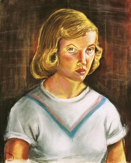Sylvia Plath. Self-portrait 1951.