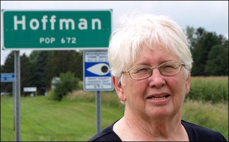 Muriel Krusemark is Hoffman's economic development coordinator.