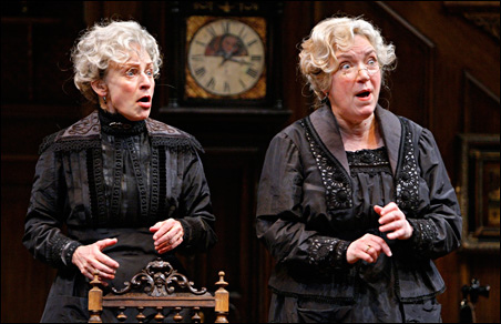"Sally Wingert and Kristine Nielsen in the Guthrie production of ""Arsenic and Old Lace."""