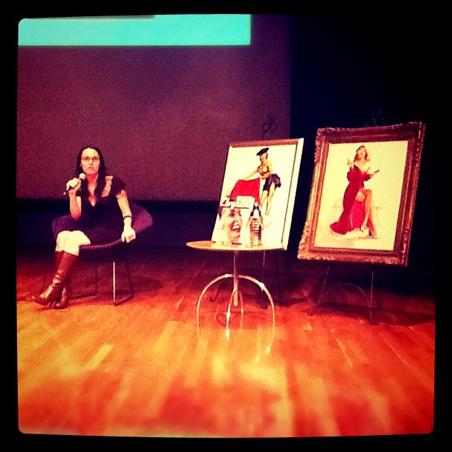 Sarahjane Blum-Murphy and two original pieces by Gil Elvgren
