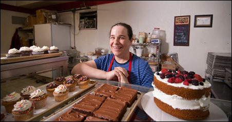 Saint Paul Classic Cookie owner and baker Katie Novotny says the Central Corridor Perks cards have actually brought new faces in the door.