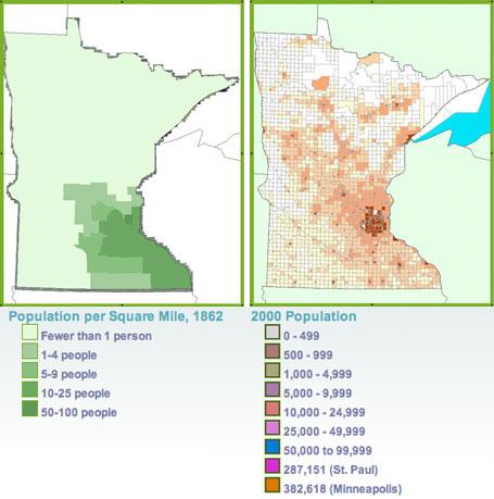Minnesota population maps