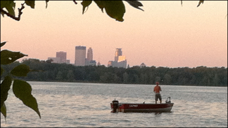 Lake Harriet at twilight