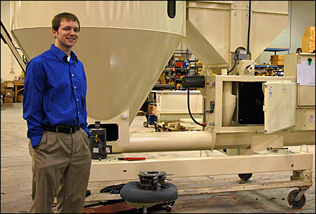 Jayden Grupe is the operations manager of Easy Energy Systems, Inc., which manufactures and sells modular systems that make ethanol from agricultural waste products.
