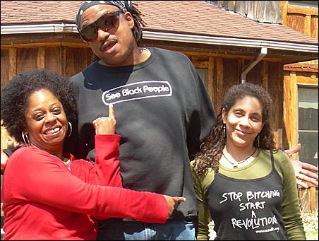 Brenda Bell Brown, Louis Porter II and Ellena Schoop at the retreat.