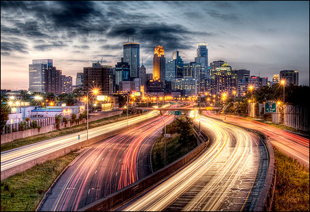 Downtown Minneapolis from I-35W