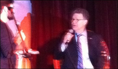 Host Sam Osterhout chats with special guest Sen. Al Franken.