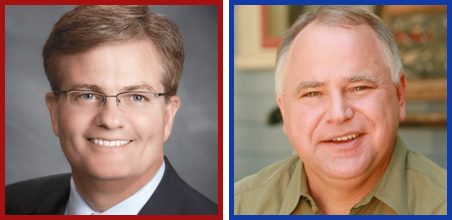 State Rep. Randy Demmer, left, and Rep. Tim Walz