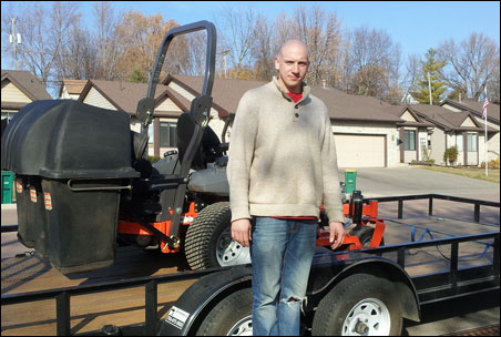 Nicholas Hoese is building a lawn-care and snow-removal business in the Watertown area.