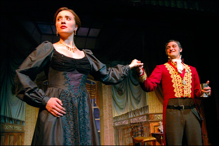 """Christine Weber is Mercedes and Jason Rojas is Fernand Mondego in """"The Count of Monte Cristo,"""" this summer's offering by the Minnesota Centennial Showboat."""