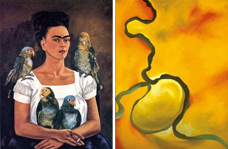 Works by Frida Kahlo and Georgia O'Keeffe