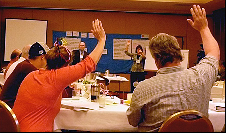 Citizen jury takes an interim vote
