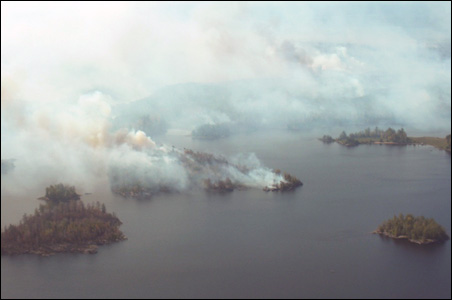 The Pagami Creek fire has charred over 100,000 acres of the BWCA.