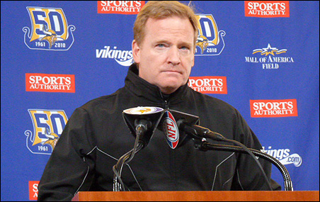 """Roger Goodell on a Vikings stadium: """"We had a series of meetings today ... they were all productive."""""""