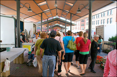 The Lowertown Farmer's Market attracts 25,000 people on any given weekend.