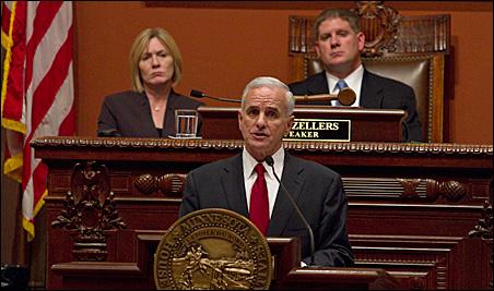 "Gov. Mark Dayton today offered his five-point Minnesota ""prosperity plan."""