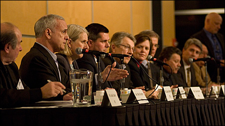Eleven gubernatorial candidates appeared at Monday night's forum.
