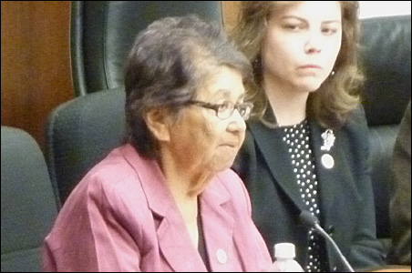 Marge Anderson, chief executive of Mille Lacs Band of Ojibwe, left, and Angela Heikes, the band's corporate vice president of gaming, planning and analysis.