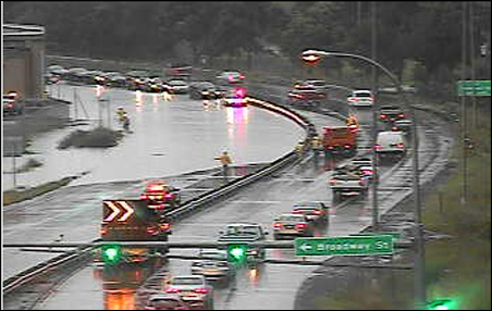Afternoon flooding at Highway 280 and Roselawn Avenue.