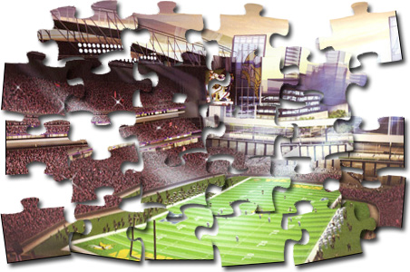 Can anyone solve the Vikings stadium puzzle?