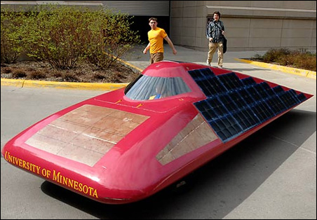 On May 9, members of the University's Solar Vehicle Project unveiled their new-generation car, Centaurus.