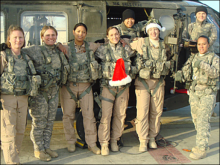 Eight women from the Minnesota-based 2-147th Assault Helicopter Battalion