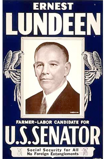 A 1936 Lundeen campaign poster