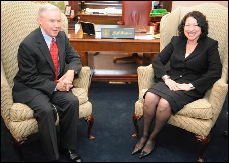 Sen. Jeff Sessions, Judge Sonia Sotomayor