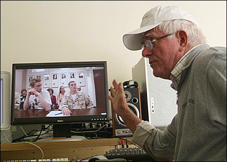 "Still talking: Phil Donahue, co-director of ""Body of War."""