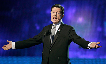 """Stephen Colbert: """"Now is the time for all good men to freak out for freedom!"""""""