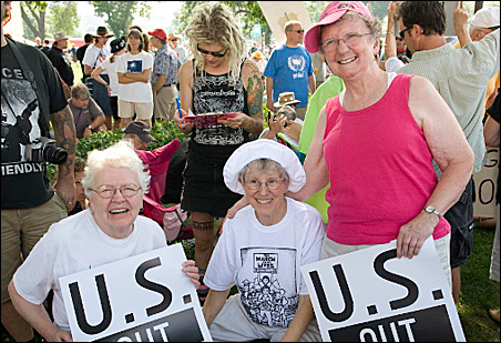 Left to right, Rosemary Hayes, Rita Foster and Mary Ellen Foster