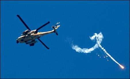 Israeli Apache gunship