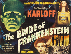 """""""The Bride of Frankenstein"""" movie poster"""