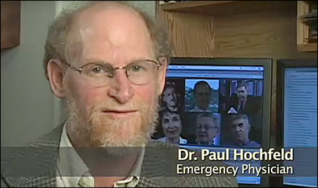 "Dr. Paul Hochfeld in a scene from ""Health, Money and Fear."""