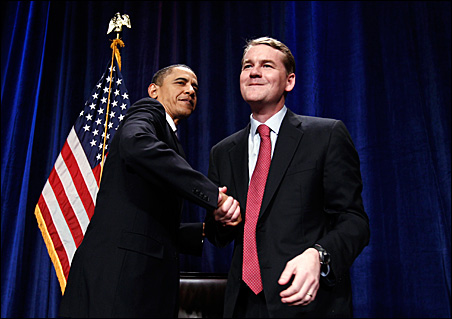 President Barack Obama campaigning with Colorado Sen. Michael Bennet earlier this year.