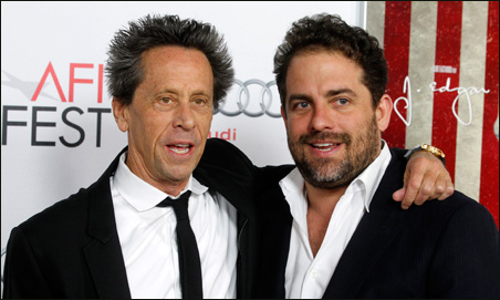 Movie producer Brian Grazer, left, has agreed to produce the 2012 Oscar telecast, replacing director Brett Ratner, right.