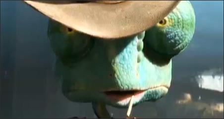 "Johnny Depp voices a chameleon in ""Rango."""