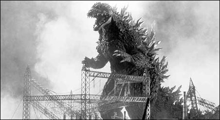 "Japanese popular opinion was moved by the first ""Godzilla"" film, an allegory about Nature herself taking revenge against nuclear weaponry by serving up an irradiated monster."